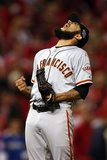 Cincinnati, OH - October 09: San Francisco Giants v Cincinnati Reds - Sergio Romo Photographic Print by Jonathan Daniel