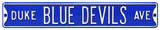 Duke Blue Devils Ave Steel Sign Wall Sign