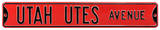 Utah Utes Ave Steel Sign Wall Sign