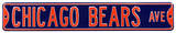 Chicago Bears Ave Steel Sign Wall Sign