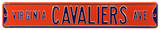 Virginia Cavaliers Ave Steel Sign Wall Sign