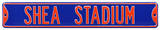 Shea Stadium Blue Steel Sign Wall Sign