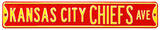 Kansas City Chiefs Ave Steel Sign Wall Sign