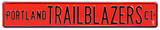 Portland Trail Blazers Ct Steel Sign Wall Sign