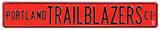 Portland Trail Blazers Ct Steel Sign Wall Sign
