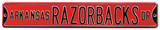 Arkansas Razorbacks Ave Red Steel Sign Wall Sign