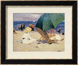 Green Umbrella Prints by Edward Henry Potthast