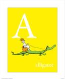A is for Alligator (yellow) Kunstdruck von Theodor (Dr. Seuss) Geisel
