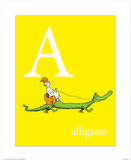 A is for Alligator (yellow) Wall Art by Theodor (Dr. Seuss) Geisel