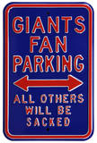 Giants Sacked Parking Steel Sign Wall Sign