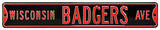 Wisconsin Badgers Ave Black Steel Sign Wall Sign