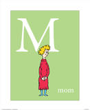 M is for Mom (green) Arte por Theodor (Dr. Seuss) Geisel