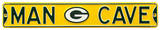 Man Cave Green Bay Packers Steel Sign Wall Sign