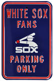 White Sox Parking Batterman Logo Steel Sign Wall Sign