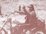 Easy Rider - Dennis Hopper Middle Finger Sepia Poster