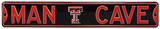 Man Cave Texas Tech Steel Sign Wall Sign
