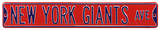 New York Giants Ave Red Steel Sign Wall Sign