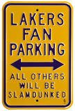 Lakers Slam Dunked Parking Steel Sign Wall Sign