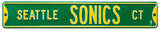 Seattle Sonics Ct Steel Sign Wall Sign