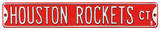 Houston Rockets Ct Steel Sign Wall Sign