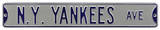 NY Yankees Ave Grey Steel Sign Wall Sign