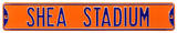 Shea Stadium Orange Steel Sign Wall Sign