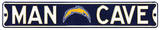 Man Cave San Diego Chargers Steel Sign Wall Sign
