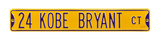 24 Kobe Bryant Ct Steel Sign Wall Sign