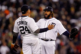 Detroit, MI - October 16: Detroit Tigers v New York Yankees - Miguel Cabrera and Prince Fielder Photographic Print by Gregory Shamus