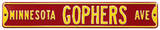 Minnesota Gophers Ave Steel Sign Wall Sign