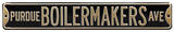 Purdue Boilermakers Ave Steel Sign Wall Sign