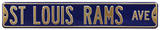 St. Louis Rams Ave Steel Sign Wall Sign