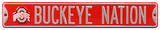 Buckeye Nation Ohio State Logo Steel Sign Wall Sign