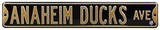 Anaheim Ducks Ave Steel Sign Wall Sign