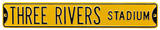 Three Rivers Stadium Steel Sign Wall Sign