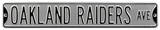 Oakland Raiders Ave Silver Steel Sign Wall Sign