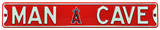 Man Cave L A  Angels Steel Sign Wall Sign