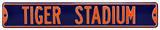 Tiger Stadium Steel Sign Wall Sign