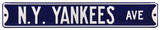 N.Y. Yankees Ave Steel Sign Wall Sign