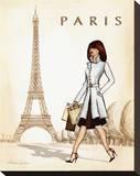 Paris Reproduction transférée sur toile par Andrea Laliberte