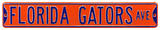 Florida Gators Ave Orange Steel Sign Wall Sign