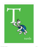T is for Turtle (green) Art by Theodor (Dr. Seuss) Geisel