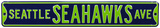 Seattle Seahawks Ave Steel Sign Wall Sign