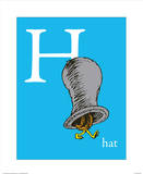 H is for Hat (blue) Posters by Theodor (Dr. Seuss) Geisel