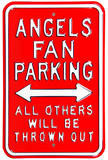 Angels Thrown Out Parking Steel Sign Wall Sign