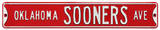 Oklahoma Sooners Ave Steel Sign Wall Sign