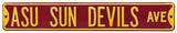 ASU Sun Devils Ave Steel Sign Wall Sign