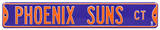 Phoenix Suns Ct Steel Sign Wall Sign
