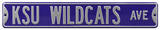 KSU Wildcats Ave purple Steel Sign Wall Sign