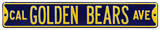 Cal Golden Bears Ave Steel Sign Wall Sign